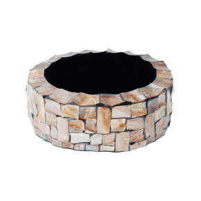 oceana-pearl-table-planter-cylinder-brown-36x13